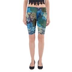 Fractal Formula Abstract Backdrop Yoga Cropped Leggings