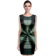 Lines Abstract Background Classic Sleeveless Midi Dress