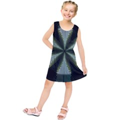Lines Abstract Background Kids  Tunic Dress