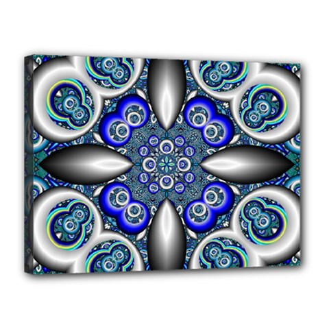 Fractal Cathedral Pattern Mosaic Canvas 16  X 12  by BangZart