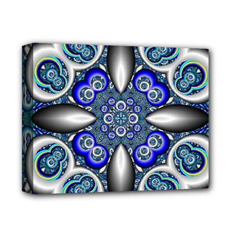 Fractal Cathedral Pattern Mosaic Deluxe Canvas 14  X 11  by BangZart