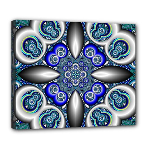 Fractal Cathedral Pattern Mosaic Deluxe Canvas 24  X 20   by BangZart
