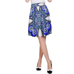 Fractal Cathedral Pattern Mosaic A Line Skirt