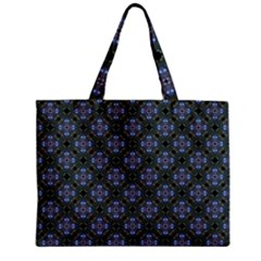 Space Wallpaper Pattern Spaceship Zipper Mini Tote Bag