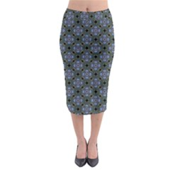 Space Wallpaper Pattern Spaceship Midi Pencil Skirt by BangZart