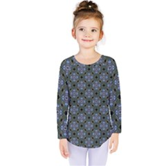 Space Wallpaper Pattern Spaceship Kids  Long Sleeve Tee