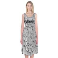 Pattern Motif Decor Midi Sleeveless Dress