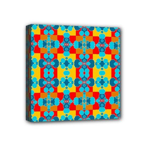 Pop Art Abstract Design Pattern Mini Canvas 4  X 4  by BangZart
