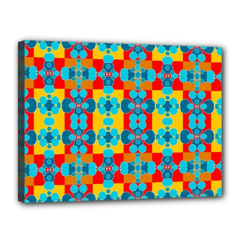 Pop Art Abstract Design Pattern Canvas 16  X 12