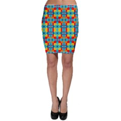 Pop Art Abstract Design Pattern Bodycon Skirt