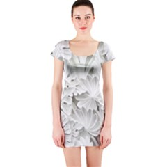Pattern Motif Decor Short Sleeve Bodycon Dress