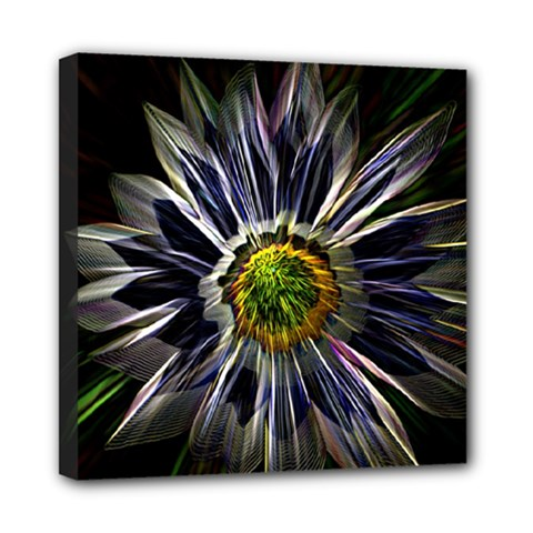 Flower Structure Photo Montage Mini Canvas 8  X 8  by BangZart