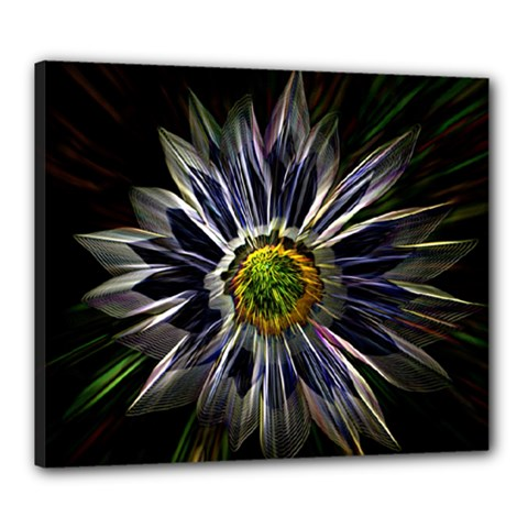 Flower Structure Photo Montage Canvas 24  X 20  by BangZart