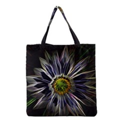 Flower Structure Photo Montage Grocery Tote Bag