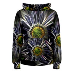 Flower Structure Photo Montage Women s Pullover Hoodie