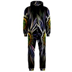 Flower Structure Photo Montage Hooded Jumpsuit (men)