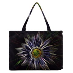 Flower Structure Photo Montage Medium Zipper Tote Bag