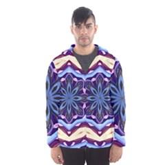 Mandala Art Design Pattern Hooded Wind Breaker (men)