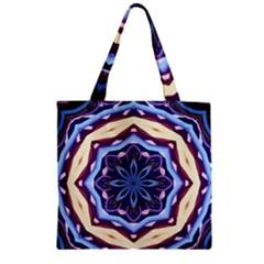 Mandala Art Design Pattern Zipper Grocery Tote Bag by BangZart
