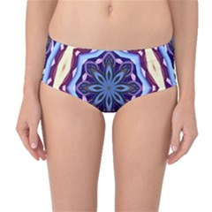 Mandala Art Design Pattern Mid Waist Bikini Bottoms