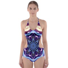 Mandala Art Design Pattern Cut Out One Piece Swimsuit