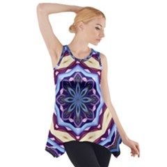Mandala Art Design Pattern Side Drop Tank Tunic