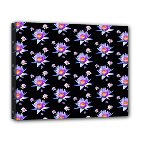 Flowers Pattern Background Lilac Deluxe Canvas 20  X 16   by BangZart