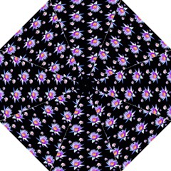 Flowers Pattern Background Lilac Hook Handle Umbrellas (large) by BangZart
