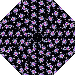 Flowers Pattern Background Lilac Hook Handle Umbrellas (small) by BangZart