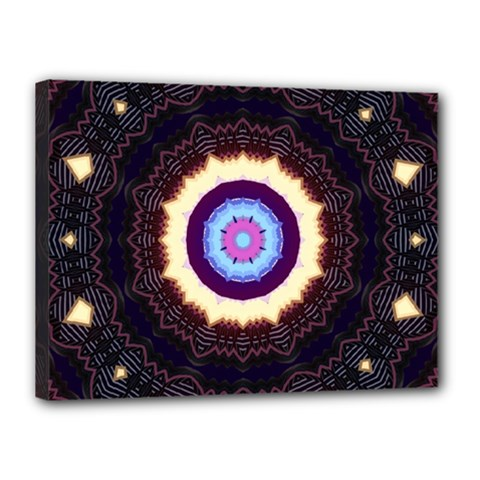 Mandala Art Design Pattern Canvas 16  X 12