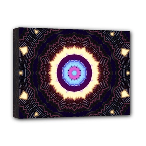 Mandala Art Design Pattern Deluxe Canvas 16  X 12   by BangZart
