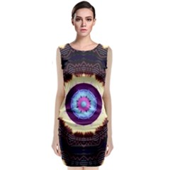 Mandala Art Design Pattern Classic Sleeveless Midi Dress