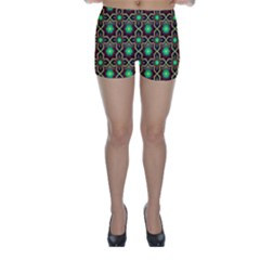 Pattern Background Bright Brown Skinny Shorts