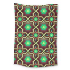Pattern Background Bright Brown Large Tapestry by BangZart