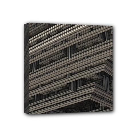 Fractal 3d Construction Industry Mini Canvas 4  X 4  by BangZart