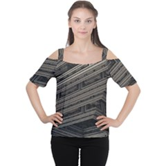 Fractal 3d Construction Industry Women s Cutout Shoulder Tee