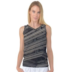 Fractal 3d Construction Industry Women s Basketball Tank Top by BangZart