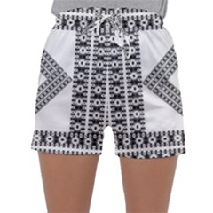 Pattern Background Texture Black Sleepwear Shorts