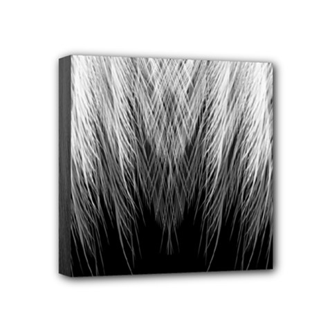 Feather Graphic Design Background Mini Canvas 4  X 4  by BangZart