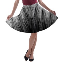 Feather Graphic Design Background A Line Skater Skirt