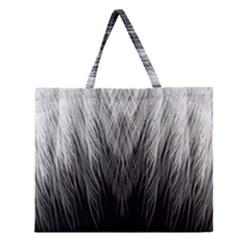 Feather Graphic Design Background Zipper Large Tote Bag