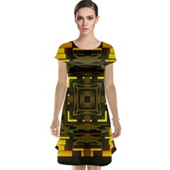 Abstract Glow Kaleidoscopic Light Cap Sleeve Nightdress