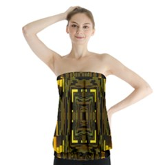 Abstract Glow Kaleidoscopic Light Strapless Top
