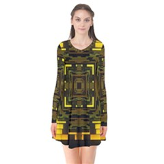 Abstract Glow Kaleidoscopic Light Flare Dress