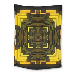 Abstract Glow Kaleidoscopic Light Medium Tapestry
