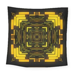 Abstract Glow Kaleidoscopic Light Square Tapestry (large)