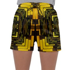 Abstract Glow Kaleidoscopic Light Sleepwear Shorts