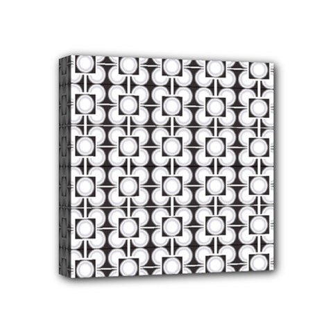 Pattern Background Texture Black Mini Canvas 4  X 4  by BangZart