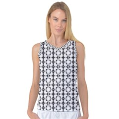 Pattern Background Texture Black Women s Basketball Tank Top