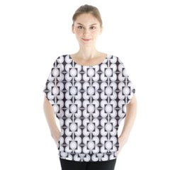 Pattern Background Texture Black Blouse